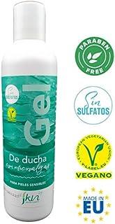 Alskin - Gel de Ducha Sin Parabenos y Sin Sulfatos   Vegano   Gel de Baño a Base de Microalgas Indicado Para Pieles Sensibles   250mL