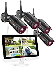 [Extra HD 5MP+ All in One] ANRAN Wireless Security Camera System with 13