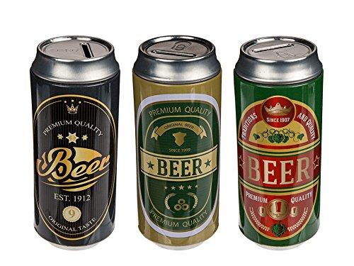 3er Set Spardose Bierspardose Spardose Bier Motiv Kinderspardose Metalldose Kinderspardose