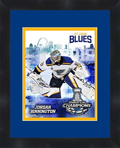 St. Louis Blues 50 Jordan Binnington Framed