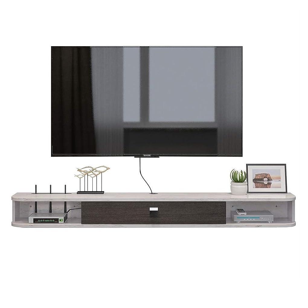 ぴかぴか本質的にイルテレビ台 シンプルなウォールケーブルボックスルータのDVDプレーヤーのためのメディアコンソールテレビコンソールに43インチマウント 他のアイテムを保存するためにも使用できます (Color : White, Size : 120x23.6x16cm)