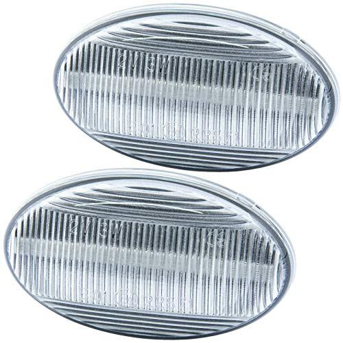 rm-style LED Side Indicator Compatible with Audi TT 8N A8 4D A2 8Z A3 8L A4 8D A6 C5 Clear Glass 7316