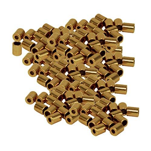 Trimming winkel 3.5mm Bugle kralen metalen niet-magnetische buis voor sieraden, armbanden, franjes voor lampenkappen, halskleding, decoratie, kunst & ambachten, goud