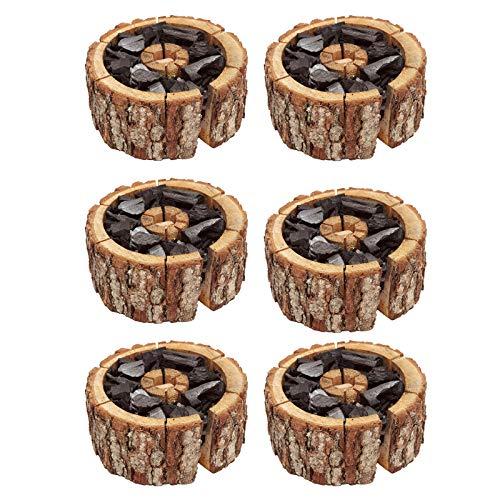 Best Sporting Einweggrill Einmal Holzkohle Grill Eco Größe 16-20 cm, 6 Stück
