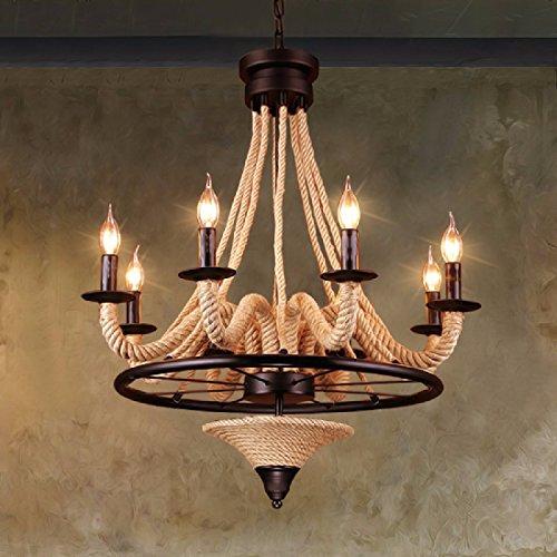 ZHGI Lampadario rustico americano, semplice stile moderno salotto camera da letto ristorante retro illuminazione