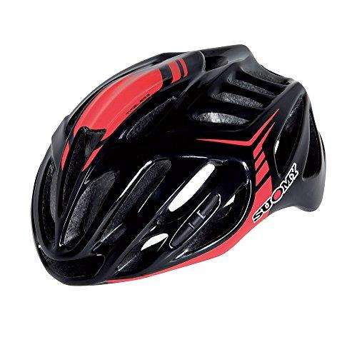 Suomy Casco Bici Timeless Nero/Rosso Taglia M (Caschi MTB e Strada) / Road Helmet Timeless Black/Red Size M (MTB And Road Helmet)