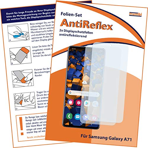 mumbi Schutzfolie kompatibel mit Samsung Galaxy A71 Folie matt, Bildschirmschutzfolie (2X)