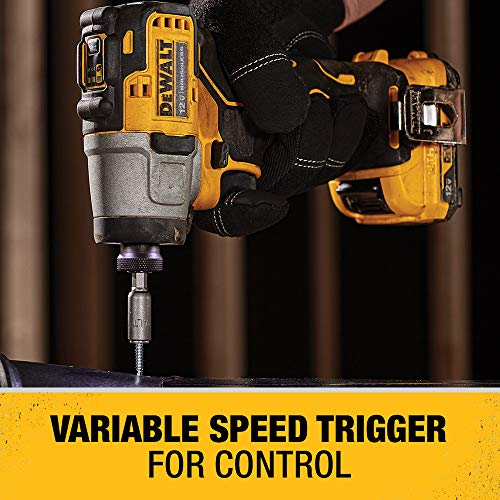 DEWALT XTREME 12V MAX Impact Driver Kit, 1/4-Inch (DCF801F2)