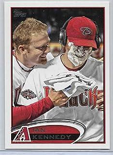 2012 Topps Baseball Ian Kennedy Pie In Face Short Print Variation Card # 76