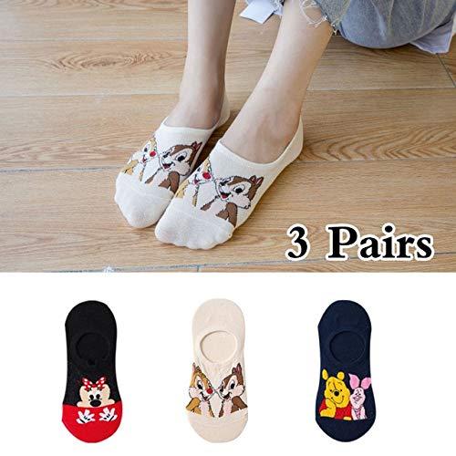 5 par/Lote Verano Casual Lindo Mujeres Calcetines Animal Dibujos Animados ratón Pato Calcetines algodón Invisible Divertido Calcetines tamaño 35-41-a3