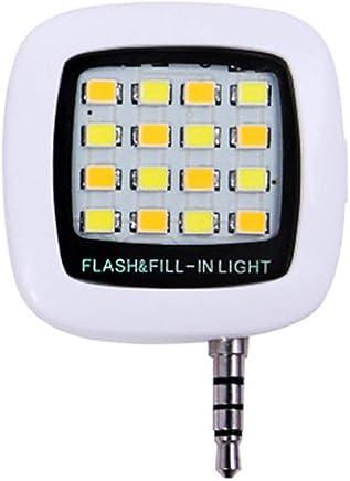 Sungpunet 3,5 Millimetri Fill Flash Light Luce Portatile Mini Phone LED Plug Smartphone Selfie LED Macchina Fotografica del Cellulare Video Lampada di Notte White (Batteria Inclusa) - Confronta prezzi