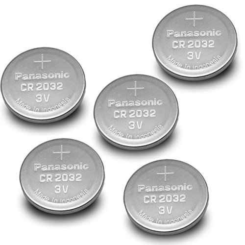 Panasonic CR2032-5PK CR2032 3V Lithium Coin Battery (Pack of 5)