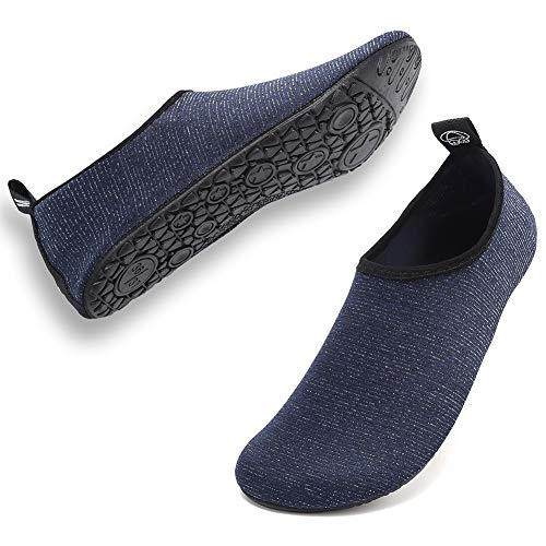Deevike Damen Herren Badeschuhe Wassersportschuhe Aquaschuhe Surfschuhe Schwimmschuhe Schnelltrocknend Schuhe Blau-40/41