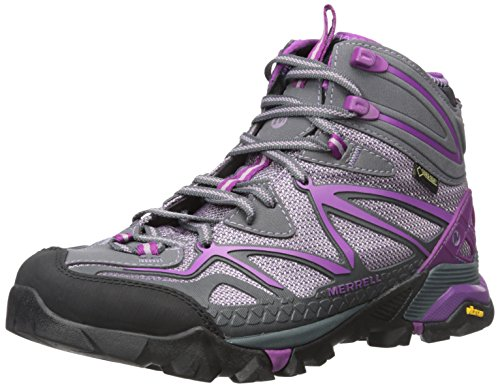 Merrell Women's Capra Sport Mid Gore-Tex Hiking Boot, Purple, 6 M US