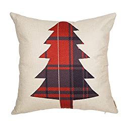 buffalo plaid christmas decor pillow