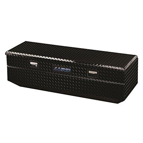 Lund 79460T 60-Inch Aluminum Flush Mount Single Lid Truck Tool Box, Diamond Plated, Black