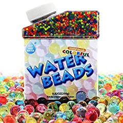 "Endless Profusion of Fun - Bright Colorful Jelly beads expand to 9-12mm(0.33"") and soft to grab. For foot spa, plant vase fillers, jelly beads pool game, shooting games and home decoration, anniversaries, weddings, etc. Educational Magic Toys - Cryst..."