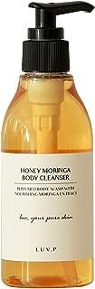 LUV-P K Beauty Nature Body Wash - Korea Skincare Honey Moringa All Skin Type Moisturizing Natural Body Cleanser Shower Gel with Natural Ingredients - EWG Verified 200ml,6.77oz (HONEY, 200ml)