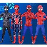 BLG Naranja 180cm Superhéroe Spider Boy Disfraz Spiderman Cosplay Ropa de Cuerpo Ropa con máscara