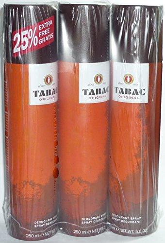 Tabac Original Deodorant Spray/Deo Spray je 250 ml (3-er Pack = 750 ml)