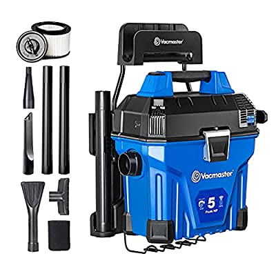 Vacmaster VWMB508 0101 5 Gallon Wall-Mount Wet/Dry Vacuum with Remote Control Operation