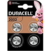 Duracell Specialty 2032 Lithium Coin Battery 3 V, Pack of 4 (DL2032/CR2032) Suitable for Use in Keyfobs, Scales, Wearables and Medical Devices