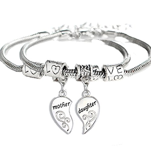 BESPMOSP Mother Daughter Bracelet Mum Bracelet Mother's Day Gifts Birthday Gifts From Daughter