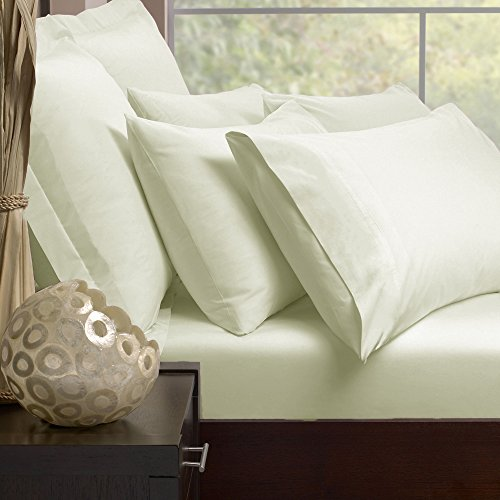 Double Extra Soft Fine Combed Polycotton Percale 180TC Duvet Cover with Envelope End in Ivory