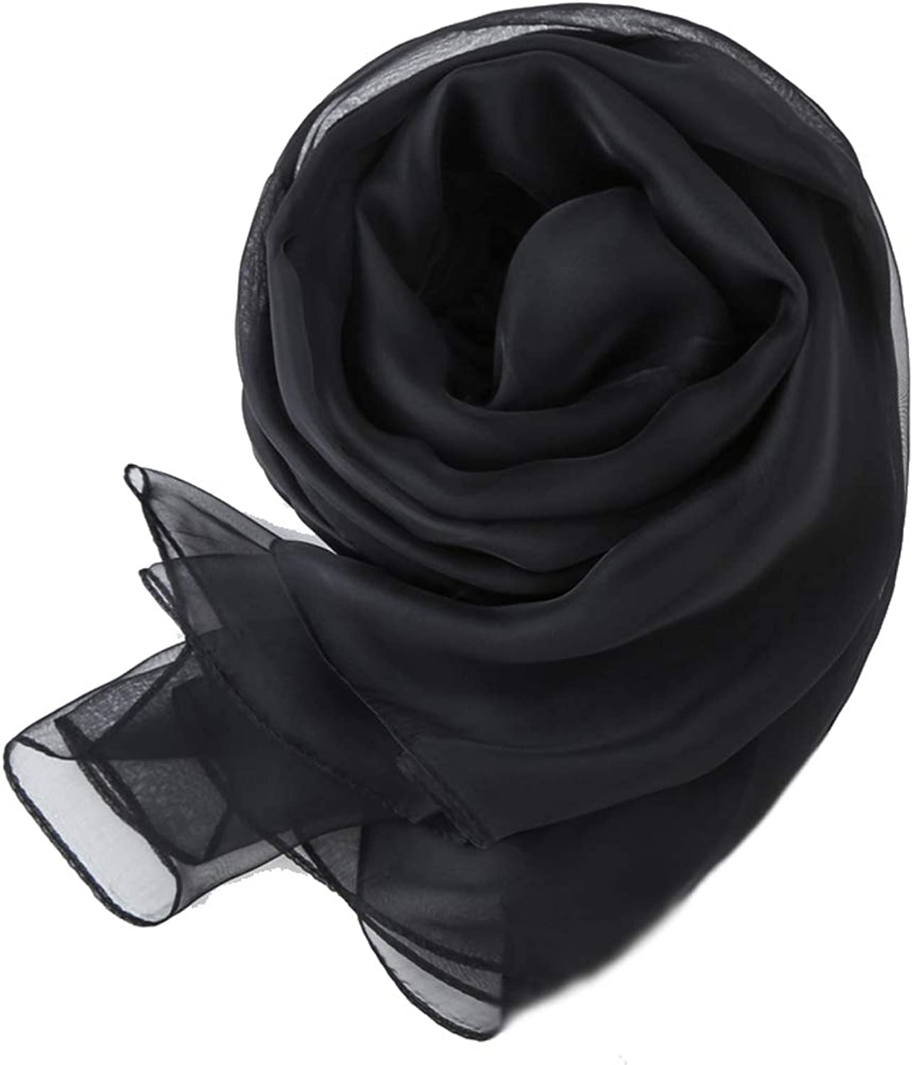 LBY Joker Thin Section Scarf Summer MultiFunction Sunscreen Silk Long Red Scarf Shawl Scarf (color   Black)