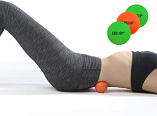 Branded Boards, Massage Lacrosse Balls Set, Massage Lacrosse Balls for Myofascial Release, Sciatic, Plantar Fasciitis Therapy, Trigger Points, Muscle Knots and Yoga Massage. (2 Green & 1 Orange Ball)