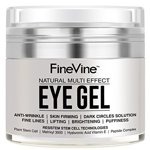 Anti Aging Eye Gel - Made in USA - for Dark Circles, Puffiness, Wrinkles, Bags, Skin Firming,...