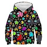 WOEMANE Sudadera de manga larga 3D para niños, serie multicolor, cálida y cómoda camiseta de manga larga, A8., 100 cm