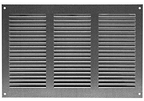 300x200mm Verzinkt Lüftungsgitter Abschlussgitter mit Insektenschutz Abluft Zuluft Metall Gitter