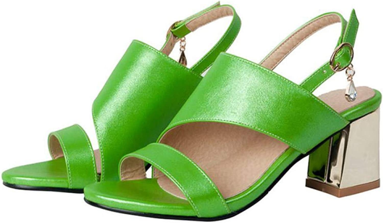 MEIZOKEN Women's Slingback Ankle Strap Block Heels Sandals Comfort Open Toe Cutout Party Pump Sandal