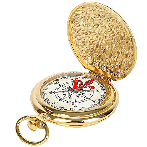 ydfagak Compass Premium Portable Waterproof Hiking Navigation Compass with Glow in The Dark Perfect for Camping Hiking and Other Outdoor Activities (Gold01)