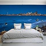 MRQXDP Custom 3D Mural Fantasy Sky Wallpaper TV Sofa Living Room Bedroom Dining Room Porch Aquarium Backdrop Blue sea Wallpaper Mural Papel de Parede