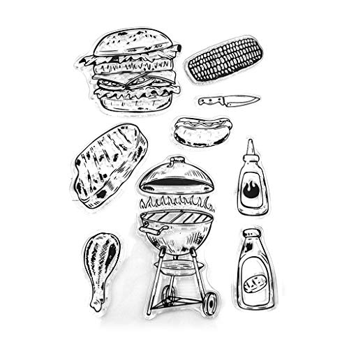 Lyguy Stempel, Barbecue Siliconen Seal Stamps DIY Scrapbooking Embossing Photo Album Decor Papier