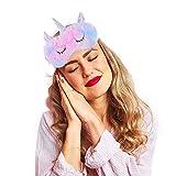 Ulife Mall 3D Unicornio Máscara de Sueño, Antifaz de viaje para dormir, Seda Natural Máscara de Ojos Antifaz de Dormir de Felpa Suave Sombra para Dormir para Niñas Mujeres Hombre - Arcoiris