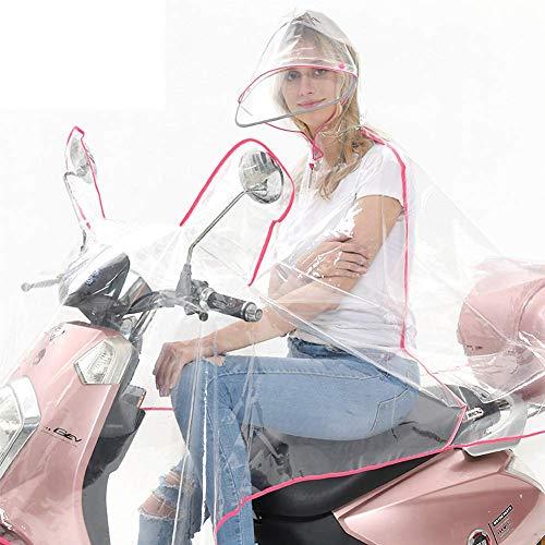 LXDDP Solo Aumento Poncho Transparente Engrosado, Motocicleta eléctrica para Coche, Impermeable Tela Oxford para Adultos, Impermeable, Chaqueta Lluvia para Montar al Aire Libre