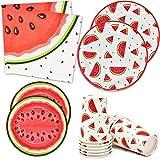 Watermelon Party Supplies Tableware Set 24 9