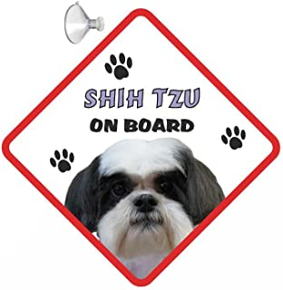 Altro collezioni diverse Cane Shitzu On Board Segnale Auto con Ventosa Adesivo Decalcomania Collezioni diverse