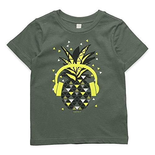 ESPRIT KIDS Jungen SS T-Shirt, Grün (Light Khaki 565), (Herstellergröße: 116+)