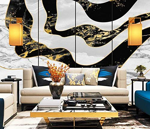 Wallpaper 3D Black and white marble abstract photo wallpaper living room sofa bedroom study decorative poster 150cmx105cm(59.1x41.3inch) PVC wallpaper wall covering Wallpaper non-woven fabric wall sti