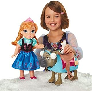Disney Frozen Doll Set Friends Collection [Anna, Olaf & Sven with Earmuffs]