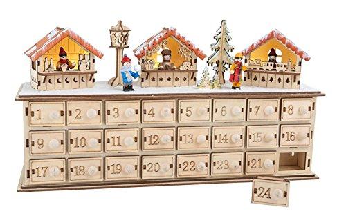 'LD decorazioni di Natale Calendario dell' Avvento 'Natale Basar legno bambini Natale Calendario stesso riempimento