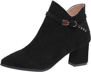 Chelsea laarzen voor dames, winter, hoge hakken, korte laarzen, warm gevoerd, modieus, casual, comfortabel, antislip, maat...