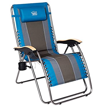 Timber Ridge Zero Gravity Patio Lounge Chair Oversize XL Padded Adjustable Recliner with Headrest Support 350lbs