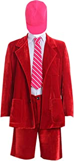 Adult Mens Red Fancy Costume Outfit Suit for Halloween Party