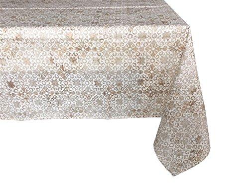 Textiles el Cid Mosaico Mantel Resinado Antimanchas, Algodón-Poliéster, Beige, 35x35x1.50 cm