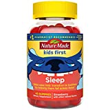 Nature Made First Sleep, Melatonin Gummies, Helps Ease Bedtime Transition by Helping Kids Fall Asleep Faster, Strawberry, 45 Count